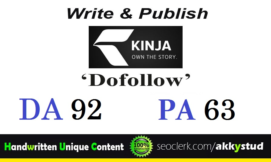 Publish a HQ guest post on Kinja. com