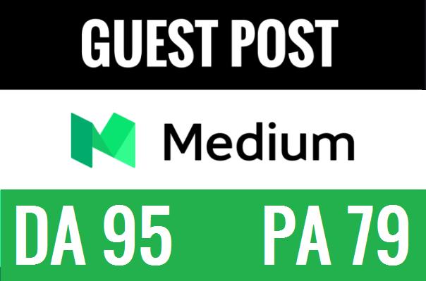 Publish a guest post on Medium. com with high DA