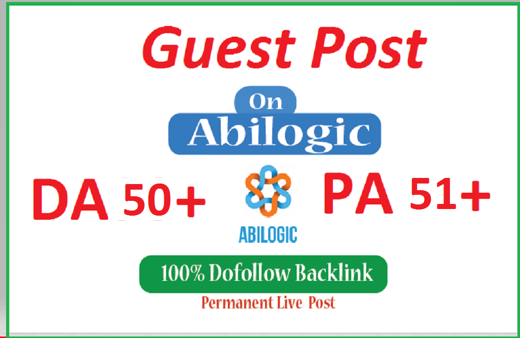 Publish a permanent guest post on Abilogic. com
