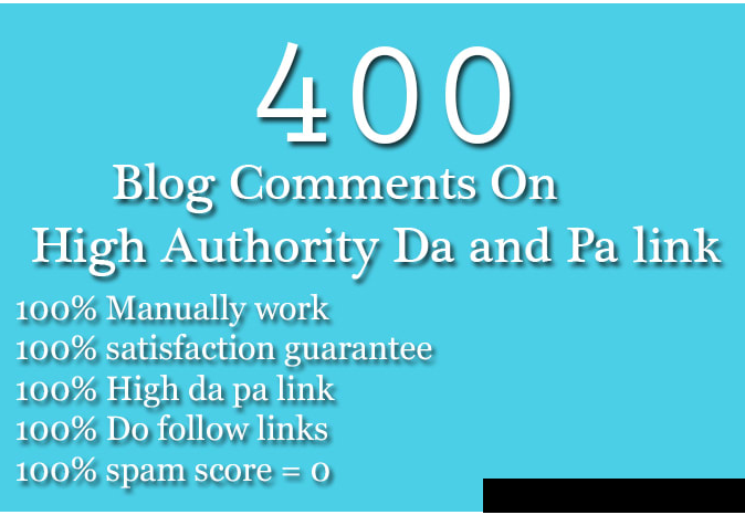do 400 high quality do follow blog comment backlinks