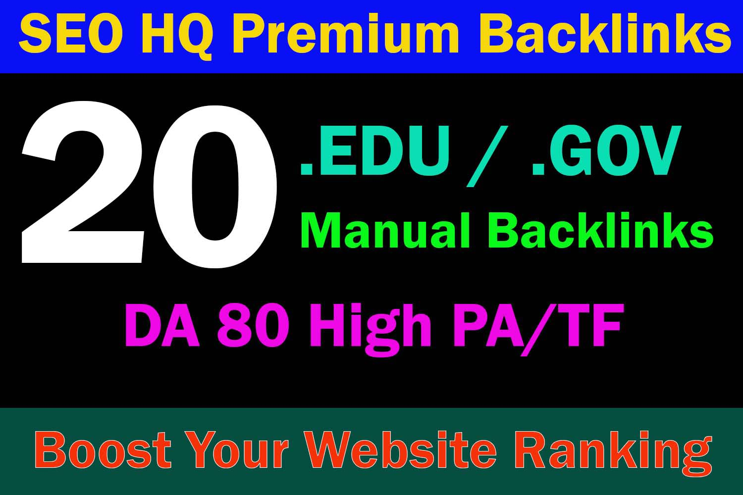 20 EDU/GOV High Authority Dofollow Backlinks To Top DA 80 Premium Sites - Boost website Ranking