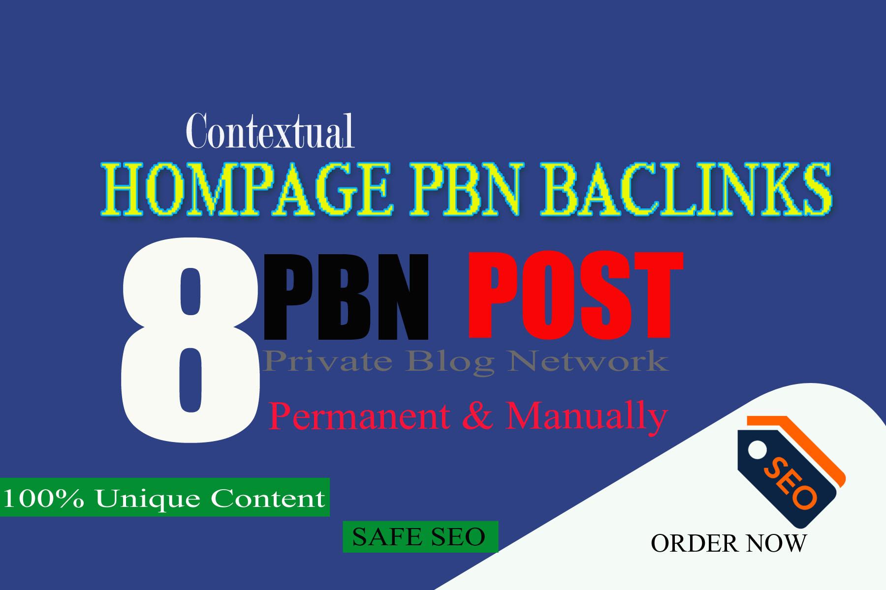 Manually 12 High Tf Cf Permanent Hompage Pbn Backlinks