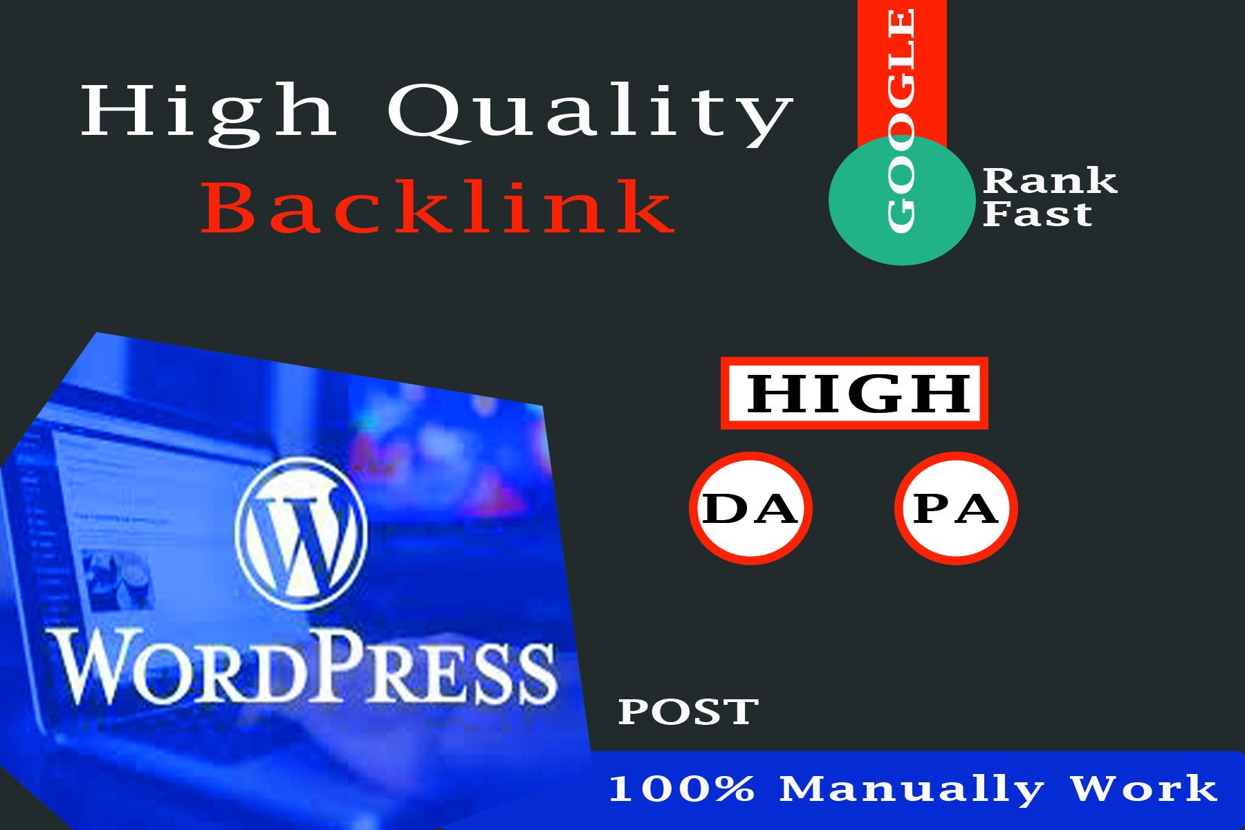 Create 15 dofollow Backlink form WordPress