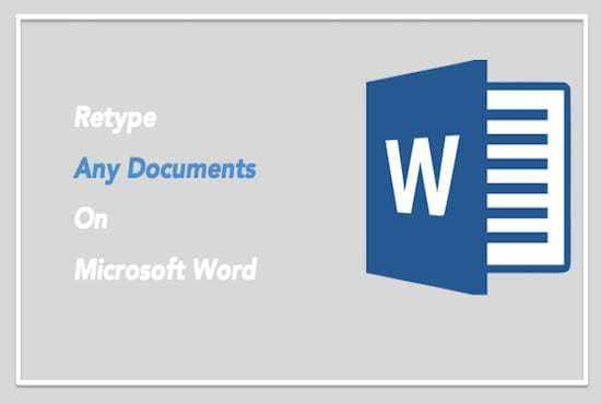 RETYPE Images, PDF docs,SCANNED docs,HANDWRITTEN notes in to word & edit