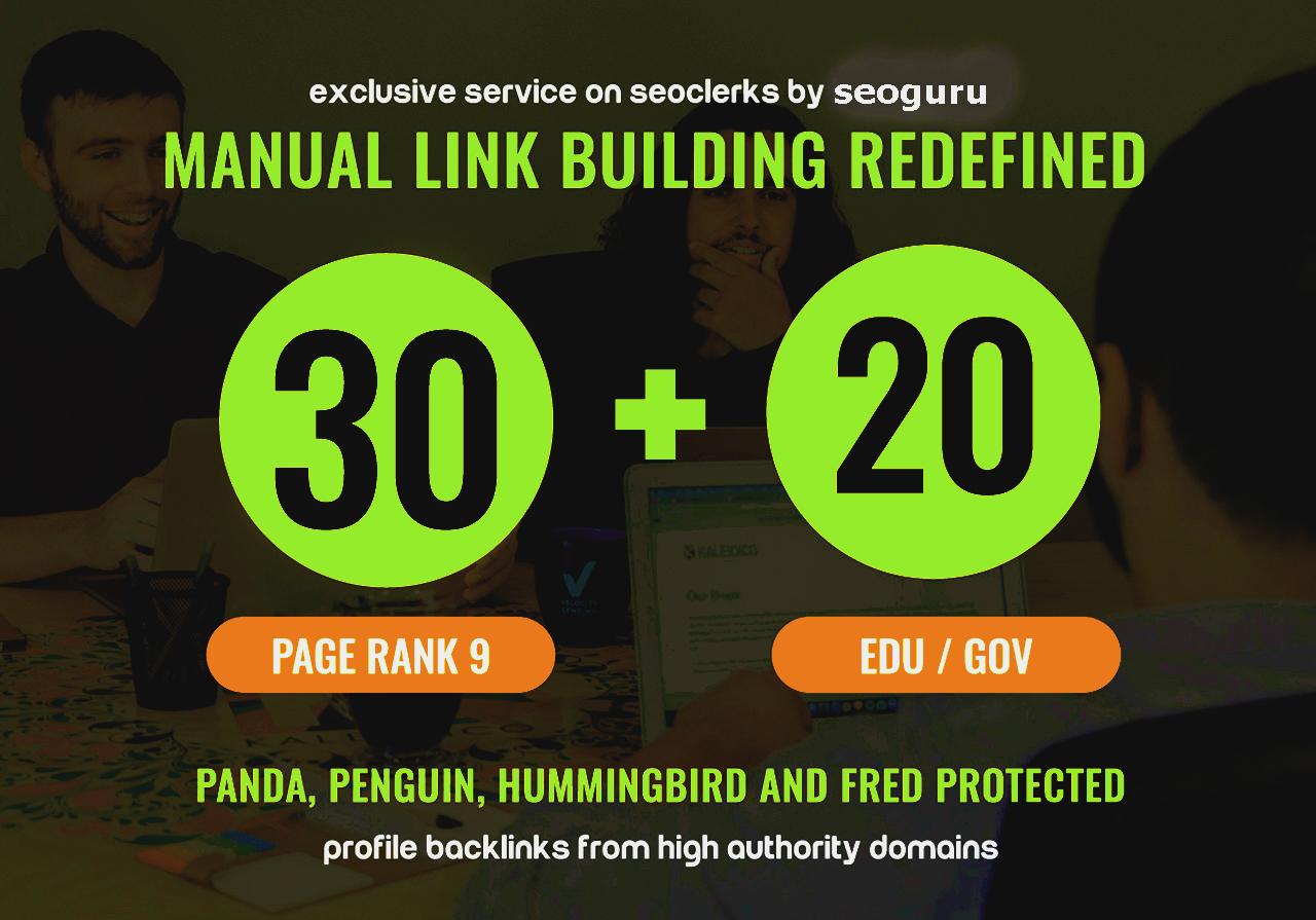 30 Pr9 + 20 Edu - Gov High PR SEO Authority Backlinks - Fire Your Google Ranking for