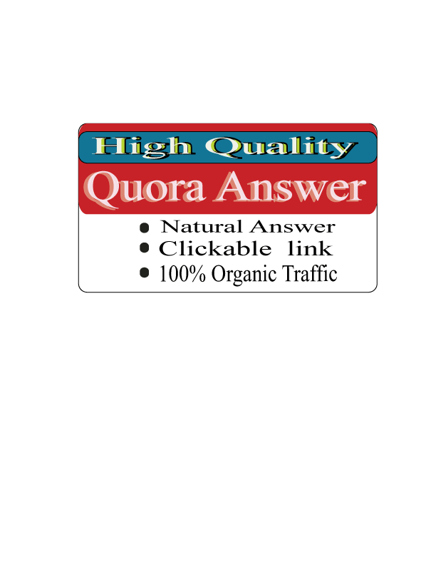 I'll do 20 Quora answer with 100% organic Traffic for promoted your website.