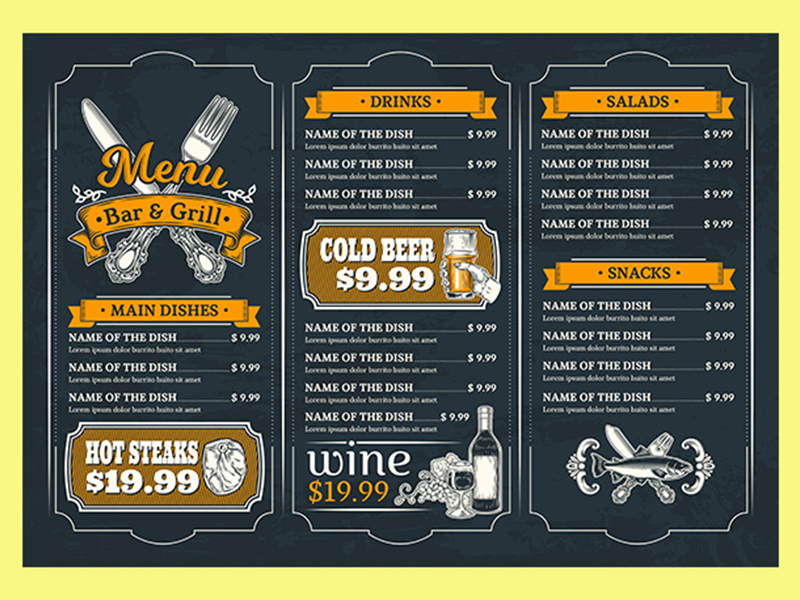 design creative and awesome restaurant menu superbly
