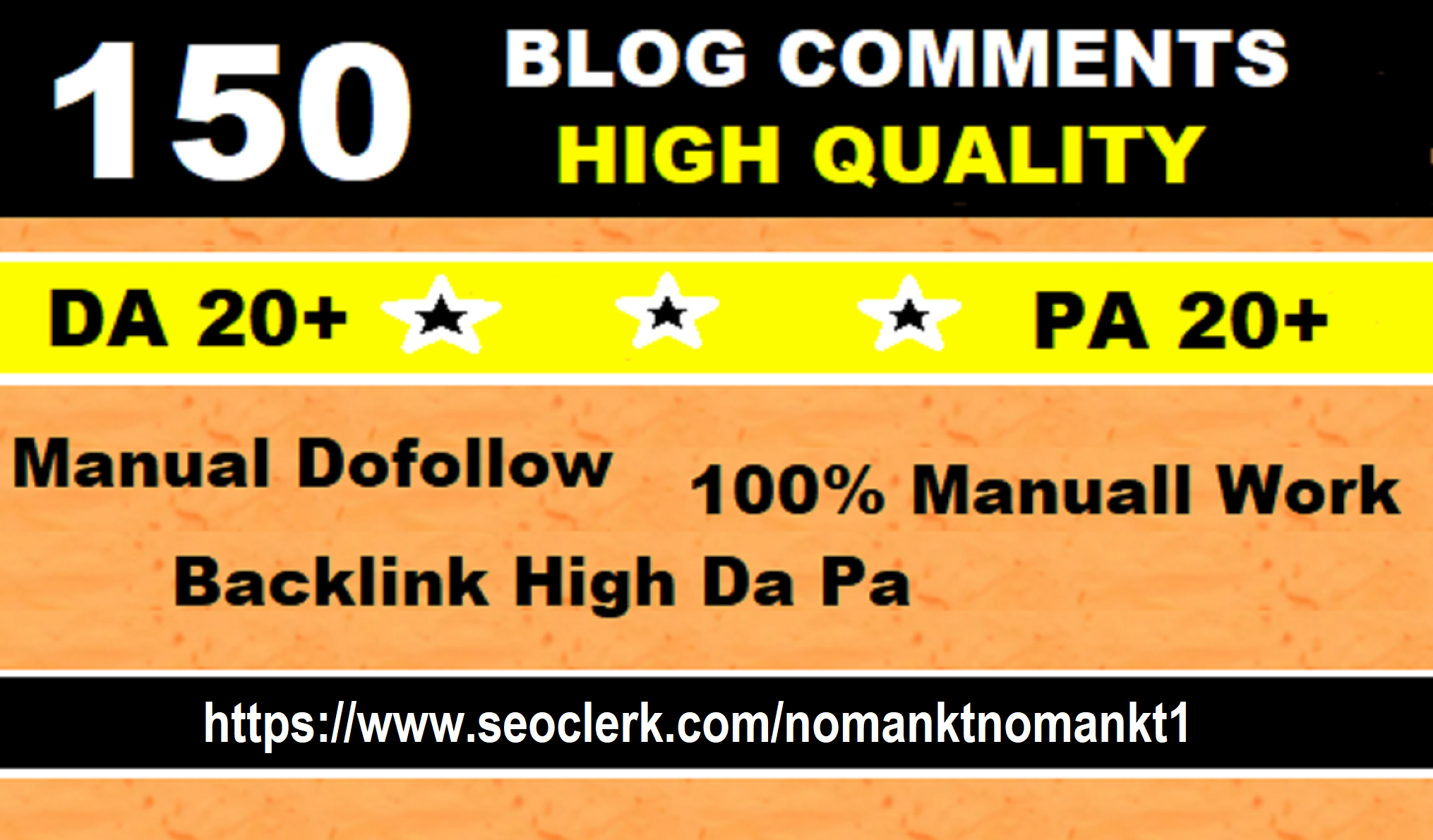 do 150 high quality dofollow blog comments