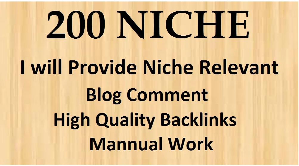 create 200 niche relevant blog comments