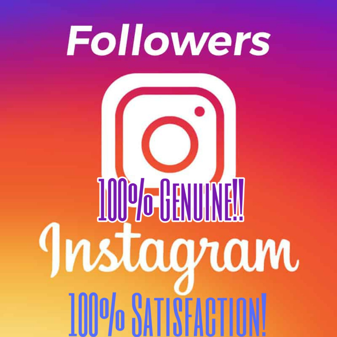 I will get you 500 REAL and GENUINE IG Follower