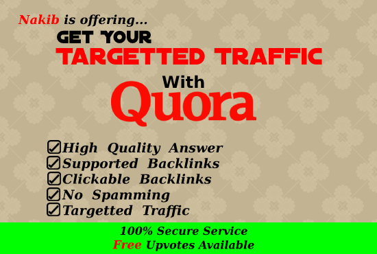 Get Guaranteed Traffic WIth 11 Quora Answers