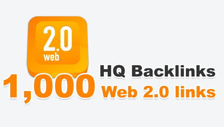 Create 1000 High Quality Seo Friendly web2 backlinks