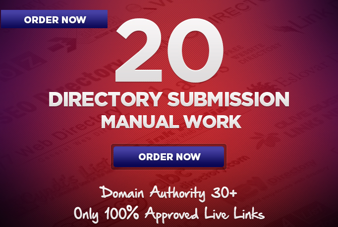 Provide 20 manual Directory submission bcklinks from High DA websites