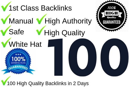 Create 100 Do follow Backlinks on high DA70-DA100 website Manually