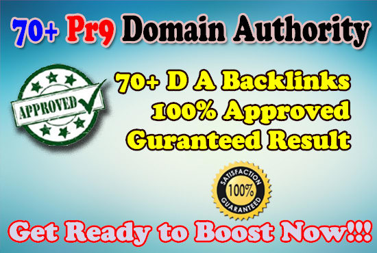 Provide 70+ PR9 and DA70 Plus Backlinks best for Your SEO and Videos