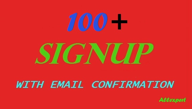 100+ signup or registration with email confirmation