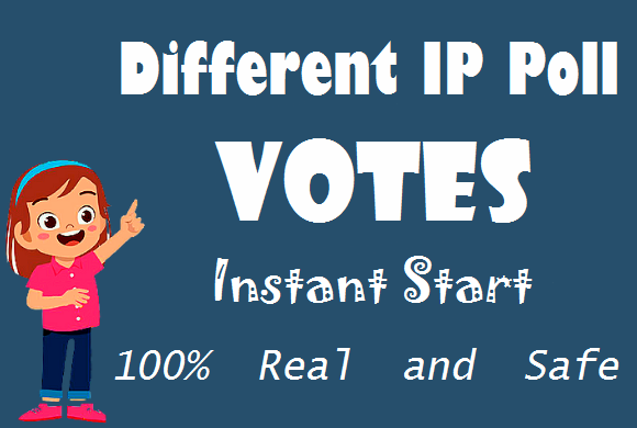 I Will Give You Different IP 250+ Votes HQ For Any Online Voting Contest poll votes