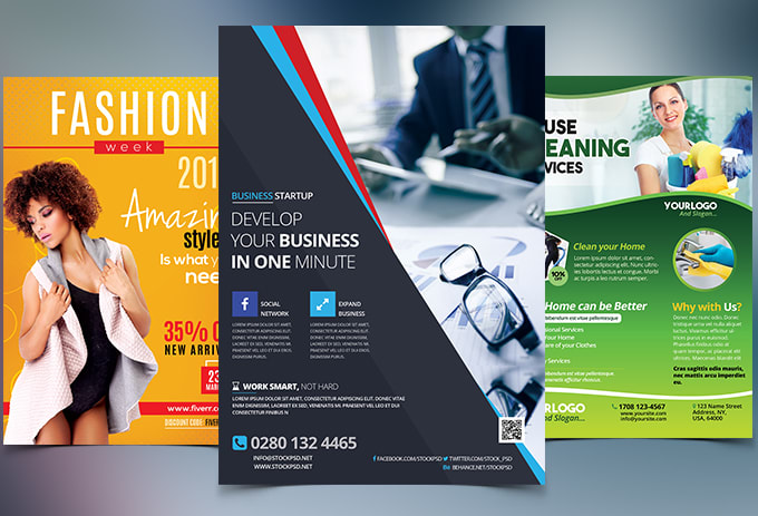 Design professional Flyer, Brochure, Pro posal , Card and social cover