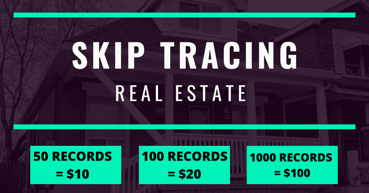 Do skip tracing for your real estate business