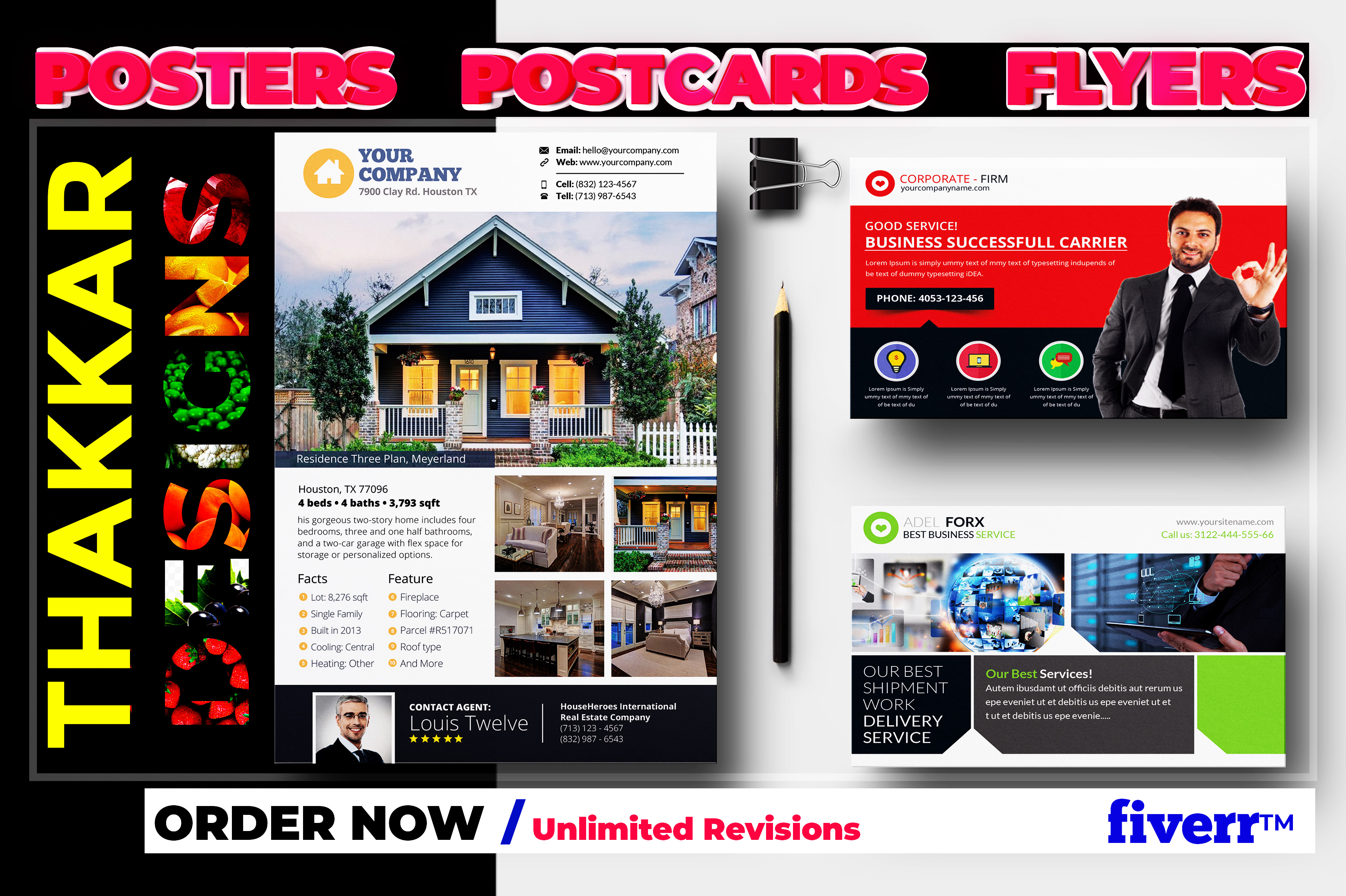 Design professional Flyer and poster for you Business