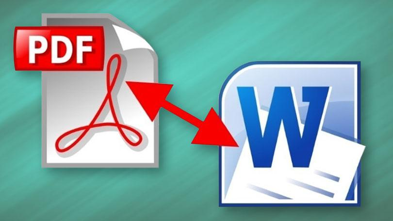PDF to word, Excel conversion also from Word to PDF.