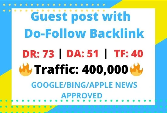I will Publish on high DA google news approved website