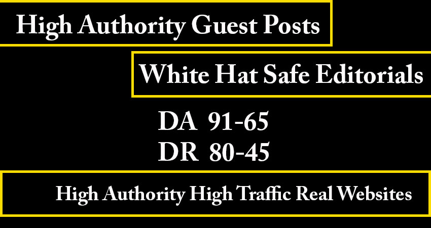 10 high authority guest posts- Average DA 60,  Average DR50,  Average TF35- White hat seo