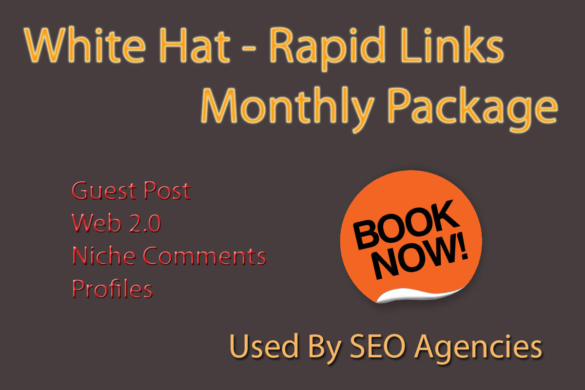 White Hat - Rapid links- Monthly Package - Used By SEO Agencies - Guaranteed Safe