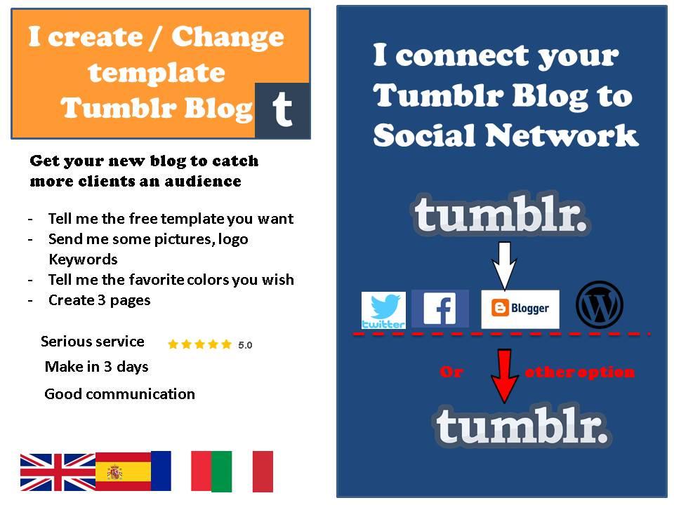 create a tumblr Blog or custom template