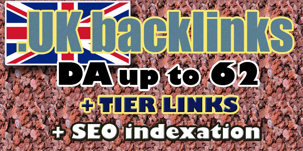 I will do UK backlinks high domain authority UK domains