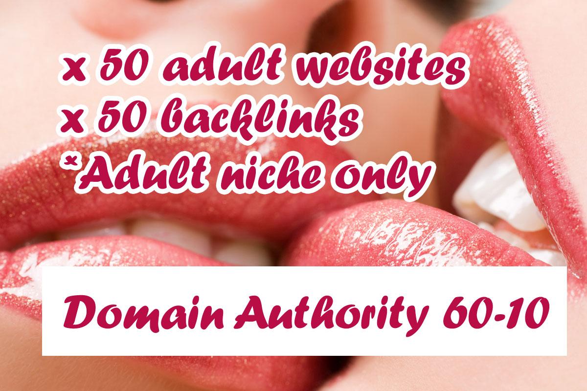 I will do 50 high DA adult niche backlinks