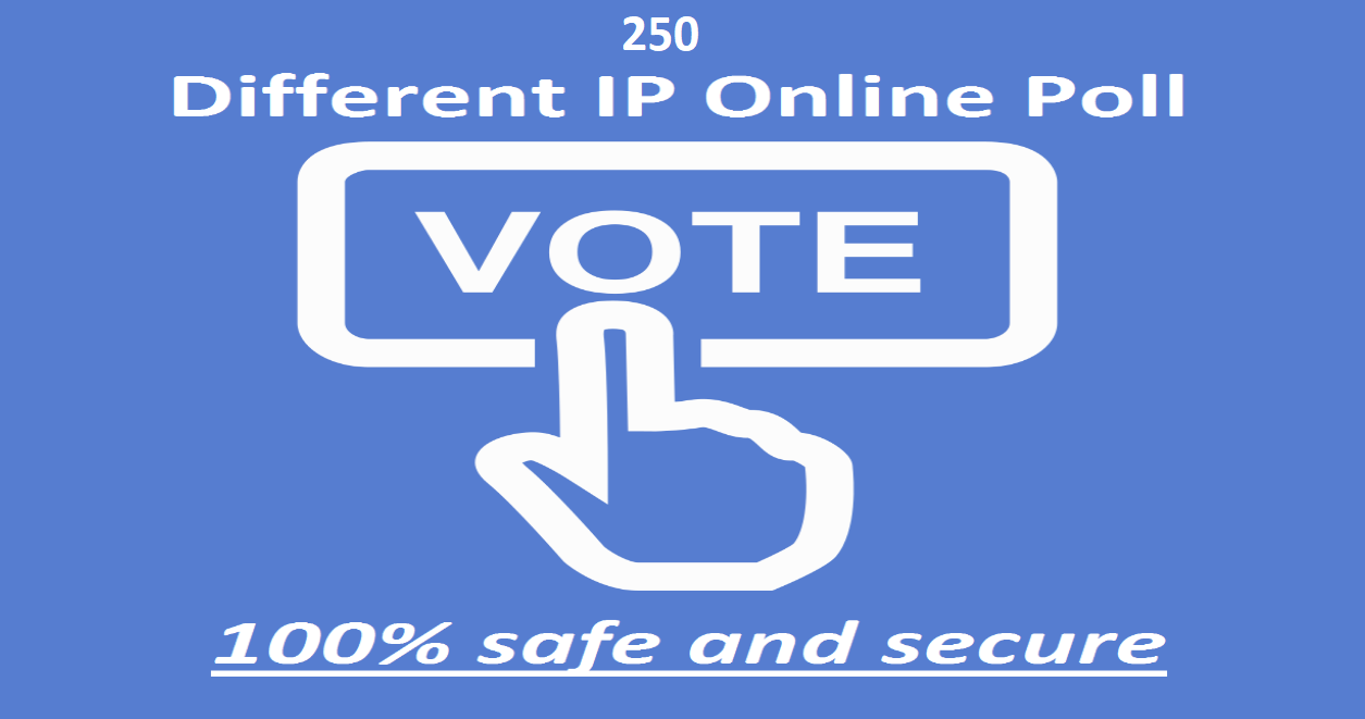 Provide you 250 single click different ip votes poll contests