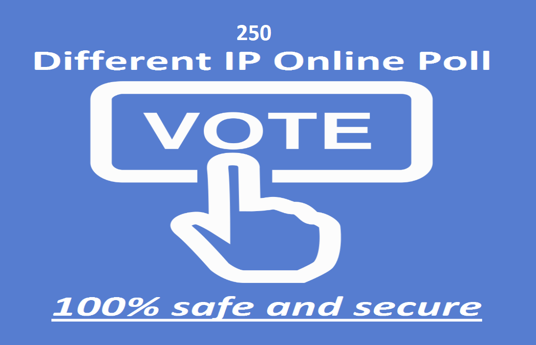 Provide you 250 single clicks different ip votes poll contests