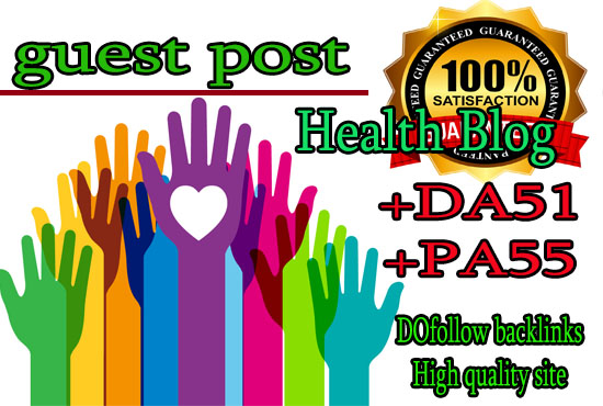 do guest post DA51 PA55 on Health blogs