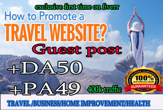Do the guest post in travel blog DA51 PA55