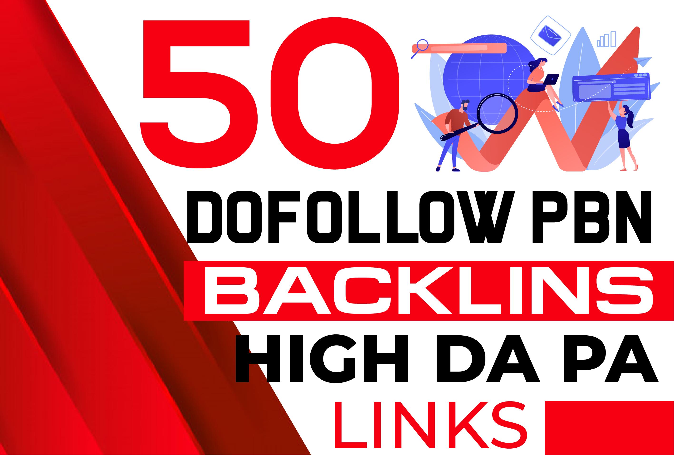 Build Manual 50 PBN DoFollow backlinks