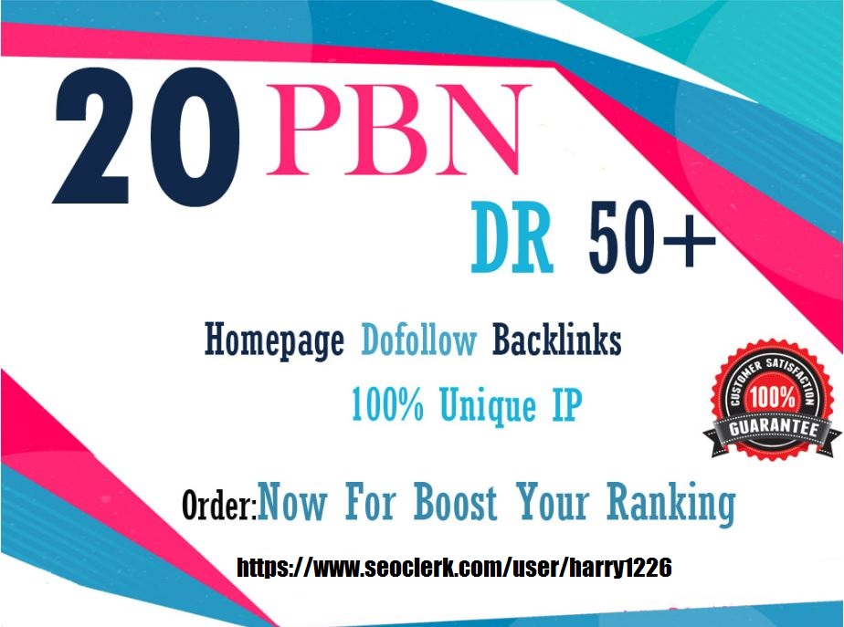 I will 20 pbn dr 40 unique ip pbn high quality