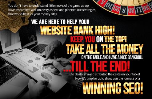 SEO Premium backlinks for your poker, Gambling websites