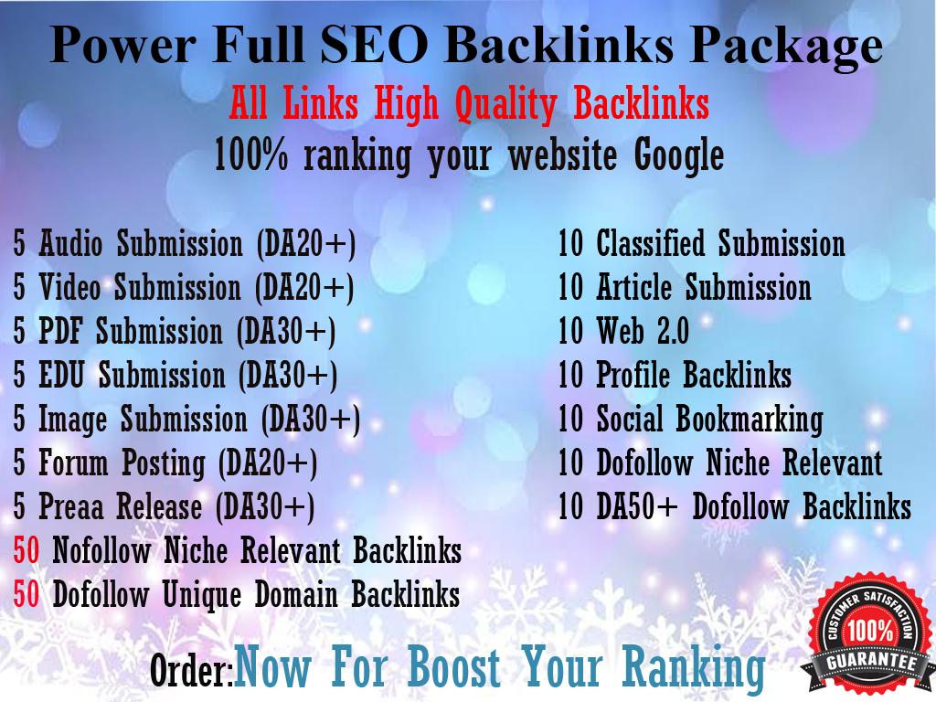 Create Manually Power Full SEO Backlinks Package