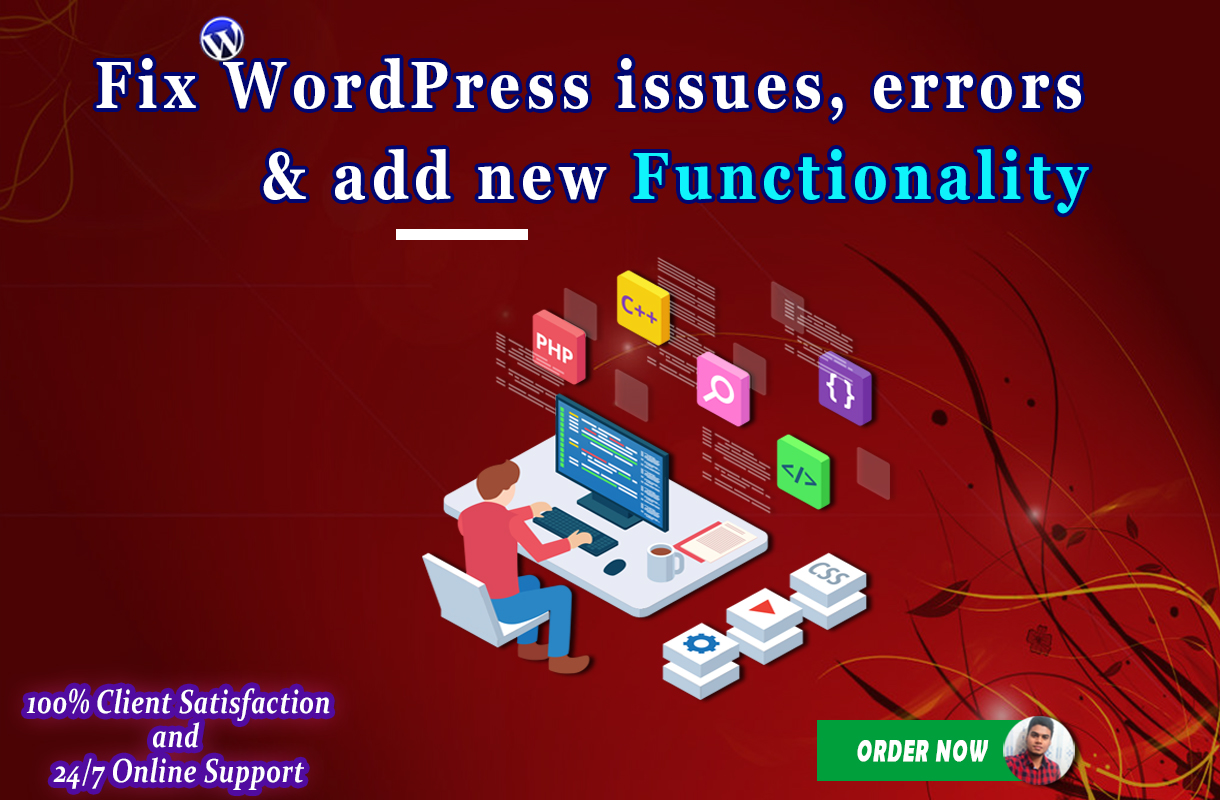 I will fix wordpress issues, errors and add new functionality
