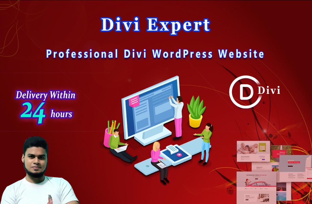 I will Design Divi WordPress website with Divi theme & Divi Builder