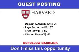 Publish your article on harvard. edu with DA 94 PA67