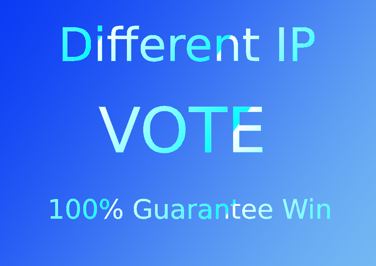 200 Guaranteed Different IP Votes In Your Contest
