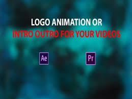 do youtube intro,  outro video or animated logo