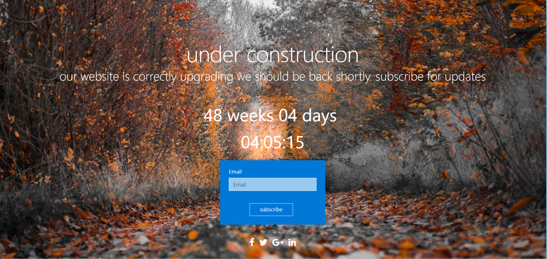 Create Coming Soon Page Or Under Construction In 2 Hours