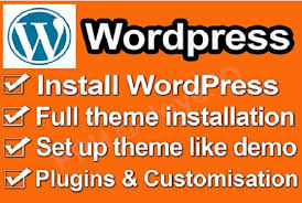 Install a WordPress And Demo theme setup Exactly like demo in 3 hours
