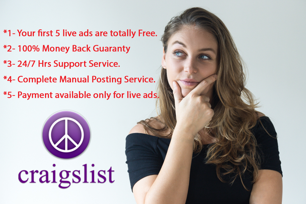 Guaranteed Craigslist Live Ad Posting In USA Site