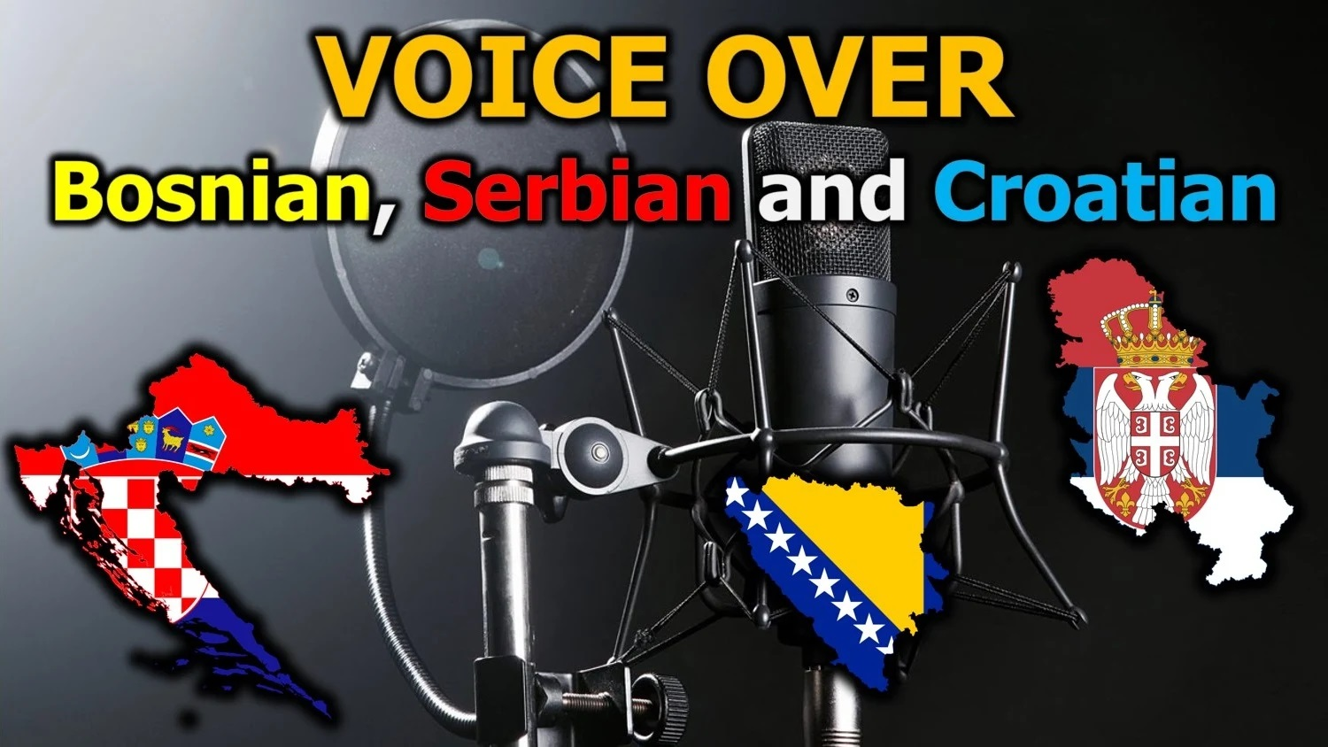 I will produce an native bosnian,  serbian or croatian male voice over