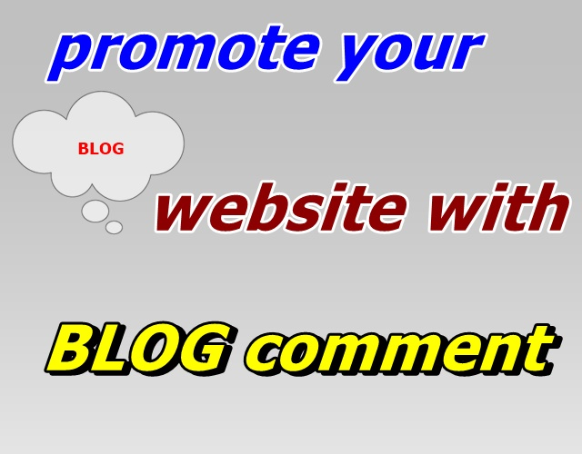 Offer 50 blog coments to promote your website