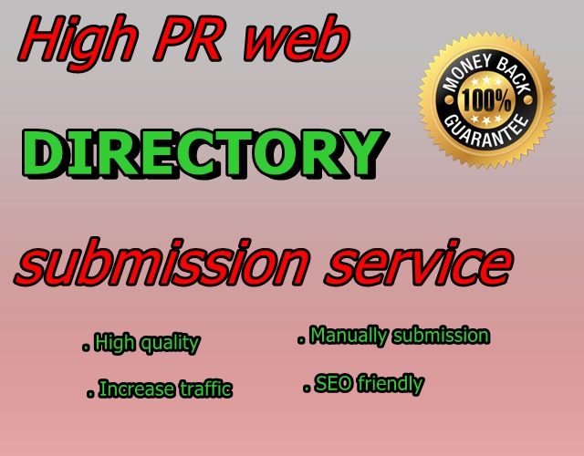 Offer 100 directory submission manually for your site